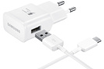 Samsung CHARGEUR SECTEUR FAST CHARGE AVEC CABLE USB TYPE C BLANC