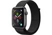 Apple Watch Série 4 GPS 44mm Boîtier en aluminium gris sidéral avec Boucle Sport noir photo 1