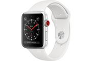 Apple Apple Watch Série 3 GPS + Cellular 38mm Boîtier en aluminium argent avec Bracelet Sport blanc