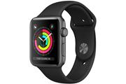 Apple Apple Watch Série 3 GPS 38mm Boîtier en aluminium gris sidéral avec Bracelet Sport Noir