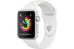 Apple Apple Watch Série 3 GPS 42mm Boîtier en aluminium argent avec Bracelet Sport blanc photo 1