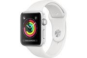 Apple Apple Watch Série 3 GPS 42mm Boîtier en aluminium argent avec Bracelet Sport blanc