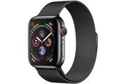 Apple Apple Watch Série 4 GPS + Cellular 40mm Boîtier en acier inoxydable avec Bracelet Milanais